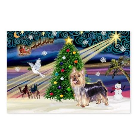 Xmas Magic & Silk T Postcards (Package of 8)