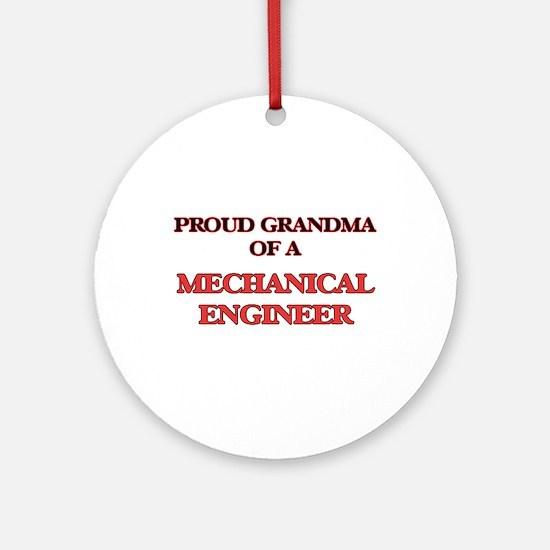 Proud Grandma of a Mechanical Engin Round Ornament