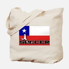 Chile Flag Soccer Tote Bag