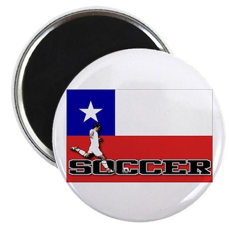 Chile Flag Soccer Magnet