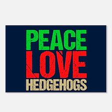 Peace Love Hedgehogs Postcards (Package of 8)