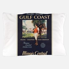 Vintage poster - Gulf Coast Pillow Case