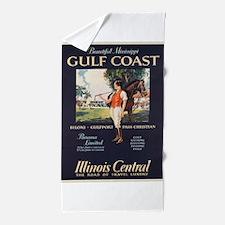 Vintage poster - Gulf Coast Beach Towel