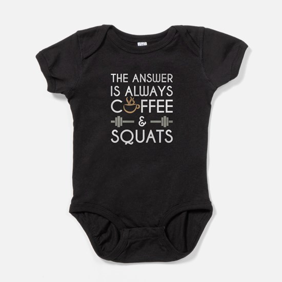 Coffee & Squats Baby Bodysuit