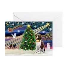 Xmas Magic & St Bernard Greeting Cards (Pk of