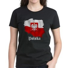 Poland flag map Tee