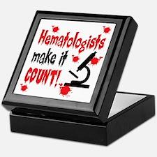 Hematologists Make It Count Keepsake Box