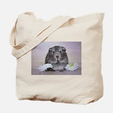 Adorable Guinea Pig and Flowers Tote Bag