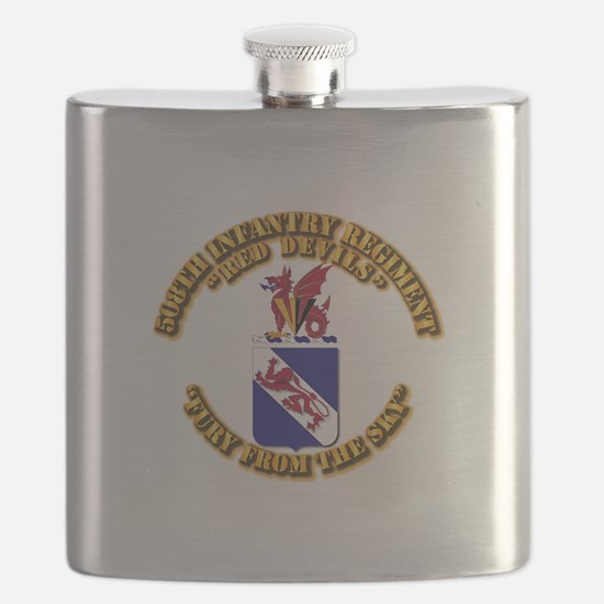 COA - 508th Infantry Regiment Flask