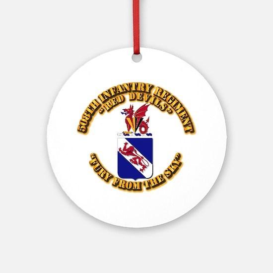 COA - 508th Infantry Regiment Round Ornament