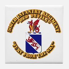 COA - 508th Infantry Regiment Tile Coaster