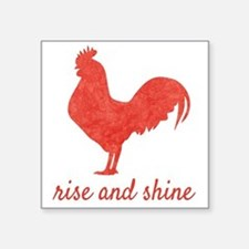 Orange Rooster Rise and Shine Sticker
