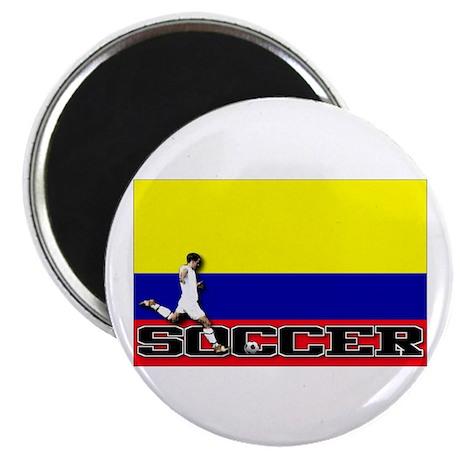 "Colombia Flag Soccer 2.25"" Magnet (10 pack)"