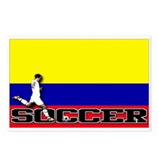 Colombia Flag Soccer Postcards (Package of 8)