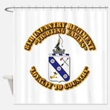 COA - 8th Infantry Regiment Shower Curtain