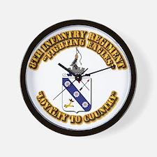 COA - 8th Infantry Regiment Wall Clock