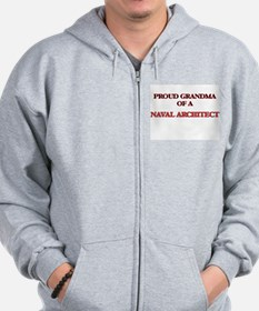 Proud Grandma of a Naval Architect Zip Hoodie