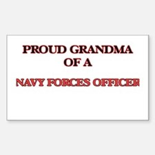 Proud Grandma of a Navy Forces Officer Decal