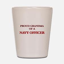 Proud Grandma of a Navy Officer Shot Glass