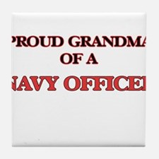 Proud Grandma of a Navy Officer Tile Coaster