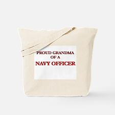 Proud Grandma of a Navy Officer Tote Bag