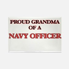 Proud Grandma of a Navy Officer Magnets