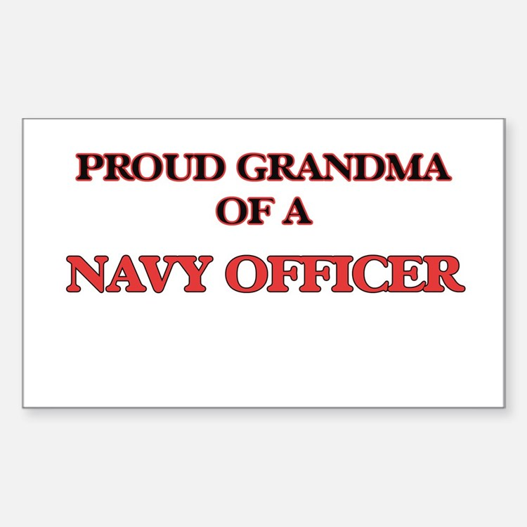 Proud Grandma of a Navy Officer Decal