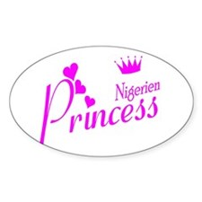 Nigerian Princess Oval Decal