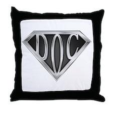 SuperDoc(metal) Throw Pillow