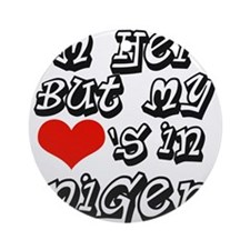 Heart in Niger Ornament (Round)