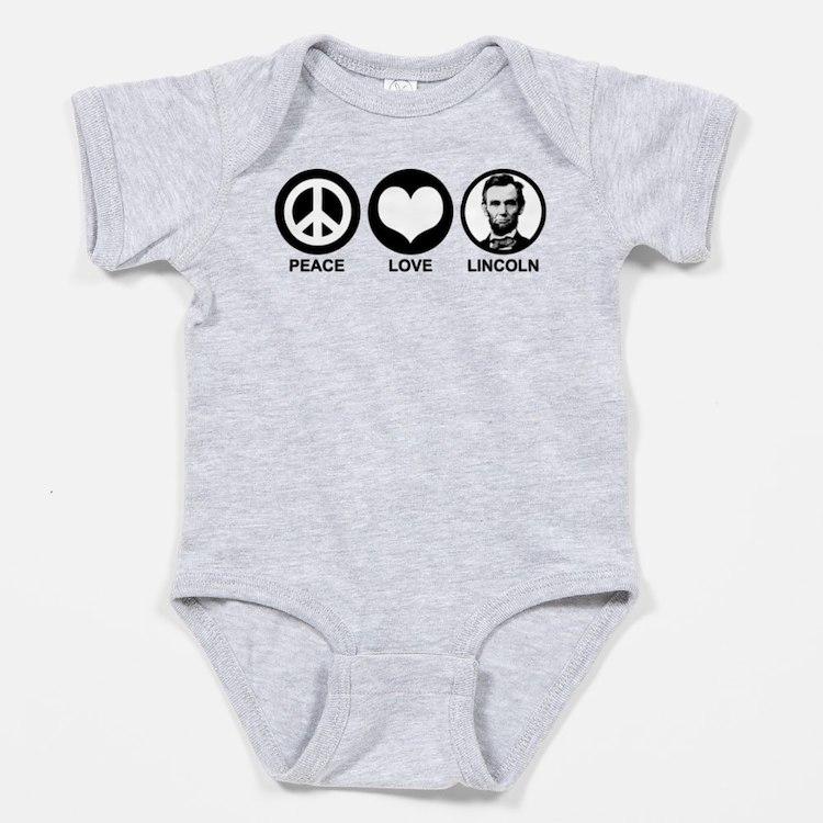 Cute Lincoln Baby Bodysuit