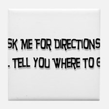 Directions Tile Coaster
