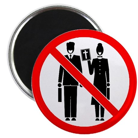 """No Preaching 2.25"""" Magnet (100 pack)"""