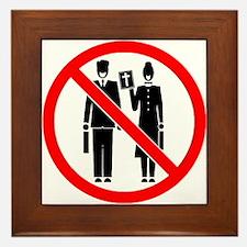 No Preaching Framed Tile