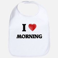 I Love Morning Bib