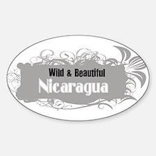 Wild Nicaragua Oval Decal