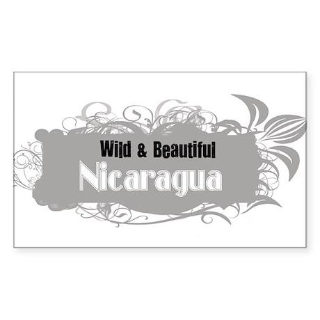 Wild Nicaragua Rectangle Sticker