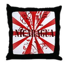 Vintage Nicaragua Throw Pillow