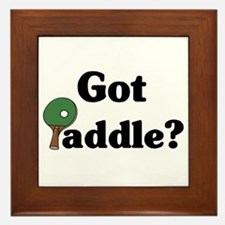 Got Paddle? Framed Tile