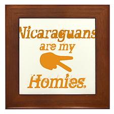 Nicaraguan Homies Framed Tile