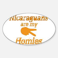 Nicaraguan Homies Oval Decal