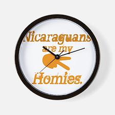 Nicaraguan Homies Wall Clock
