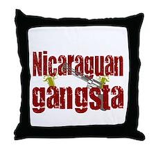 Nicaraguan Gangsta Throw Pillow
