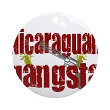 Nicaraguan Gangsta Ornament (Round)