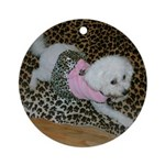 SOPHIE IN PINK ORNAMENT (ROUND)