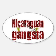 Nicaraguan Gangsta Oval Decal
