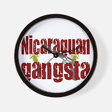 Nicaraguan Gangsta Wall Clock