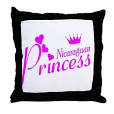 Nicaraguan Princess Throw Pillow