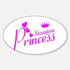Nicaraguan Princess Oval Decal