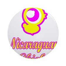 Nicaraguan Chick Ornament (Round)